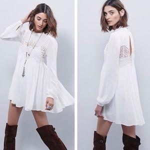 Free People Sweet Thing crinkle white tunic/dress